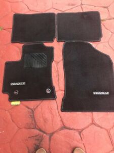 Toyota 2014-2016 Corolla Floor Mats Silver Stitching Carpet Genuine OEM OE