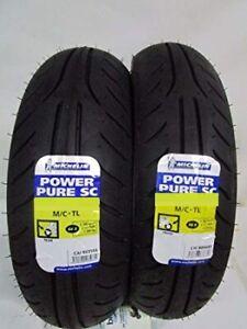 Coppia Pneumatici Gomme Michelin Power Pure 110//70 12 47L 130//70 12 56P TL