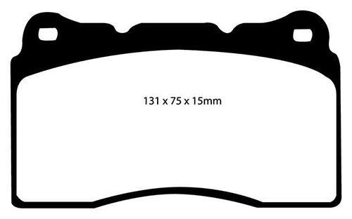 EBC RedStuff Front Brake Pads for Subaru Impreza 2.0 Turbo WRX STi 114 pcd
