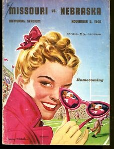 1946 Mizzou Missouri v Nebraska Football Program 11/2/46 Ex