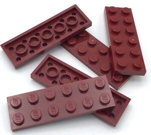 Lego-5-Nuevo-Rojo-Oscuro-Placas-2-x-6-Punto-Edificio-Piezas