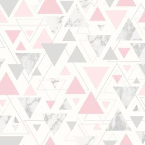 Chantilly-Geometrique-Marbre-Triangle-Papier-Peint-Debona-Rose-Gris-5013