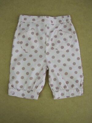 Grain De Ble Baby Cotton 3//4 Capri Pants size 6 months Colour Pink Polka Dot