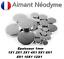 miniature 1 - Aimant Neodyme puissant épaisseur 1mm : 1X1 2X1 3X1 4X1 5X1 6X1 8X1 10X1 12X1