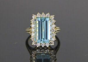 18K-Solid-Yellow-Gold-GIA-Emerald-Cut-Aquamarine-Diamond-Cocktail-Ring-8