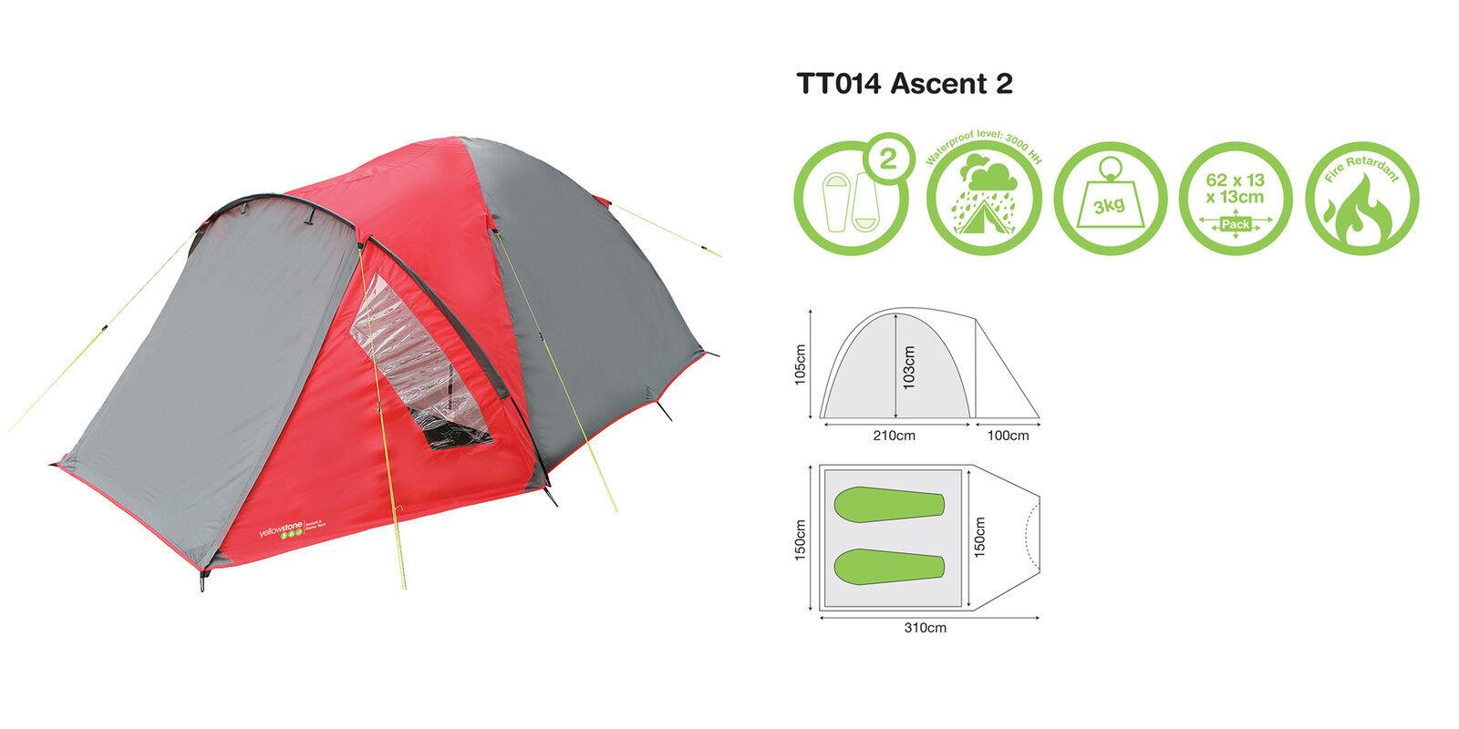 Tenda Campeggio - Montagna Gelbstone Ascent 2