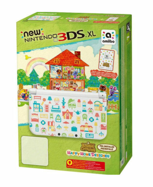 nintendo 3ds xl animal crossing 4gb wei handheld. Black Bedroom Furniture Sets. Home Design Ideas
