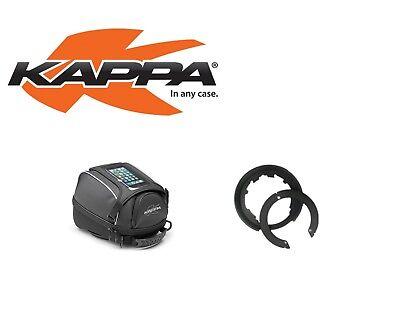 Realistico Kappa Borsa Serbatoio 5 L + Flangia Bf04k Per Kawasaki Z 800 2013 - 2017 In Corto Rifornimento
