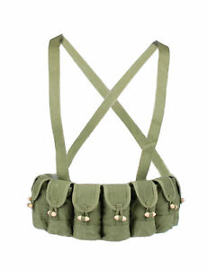 SURPLUS-CHINESE-MILITARY-TYPE-56-SEMI-AMMO-CHEST-RIG-BANDOLIER-POUCH-31165