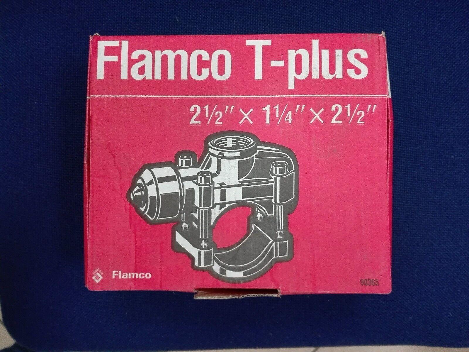 Flamco T-plus DN 65 Rohrverbindung für Stahlrohre 2 1 2  x 1 1 4  x 2 1 2