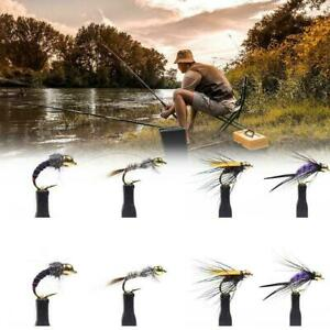 8pcs-Slowly-Sinking-Salmon-Trout-Steelhead-Minnow-Fly-Fishing-Flies-F4Y5