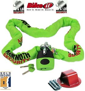 Sold-Secure-Mammoth-Chain-Lock-1-8m-Motorcycle-Rock-Solid-Bike-Ground-Anchor