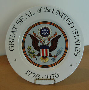 660f56532 Belcrest Great Seal of the United States 1776 - 1976 Collector Plate ...