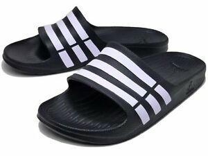 2a620779031436 Adidas Duramo Mens Slide On Flip Flop Sandals Black sizes 5 - 11