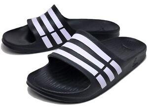 fc2e9a378e28a Adidas Duramo Mens Slide On Flip Flop Sandals Black sizes 5 - 11