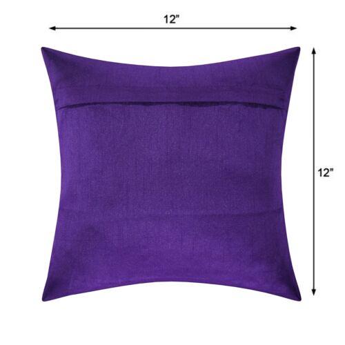 Pink Peacock Bedding Sofa Cushion Cover Indian Brocade Silk Pillow Case Throw