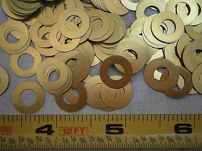 ID=0.2 Flat Washers #10 500 pcs OD=0.438 Brass THK=0.036