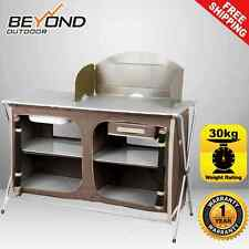 Brand New Oztrail Camping Camp Kitchen Deluxe Sink Table Gear Equipment BBQ