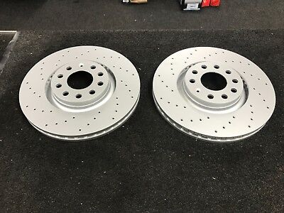 Audi A4 8EC 2.0 TFSI Rear Drilled Grooved Brake Discs 04