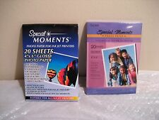 SPECIAL MOMENTS GLOSSY PHOTO PAPER 2 PACKAGES INK JET PRINTER 4X6