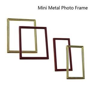 Dollhouse-Miniature-1-12-Toy-A-Metal-Small-Photo-Frame-DIY-Dollhouse-Decor