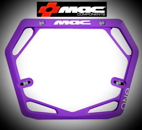 Purple MAC One Race Mode Pro BMX Number Plate