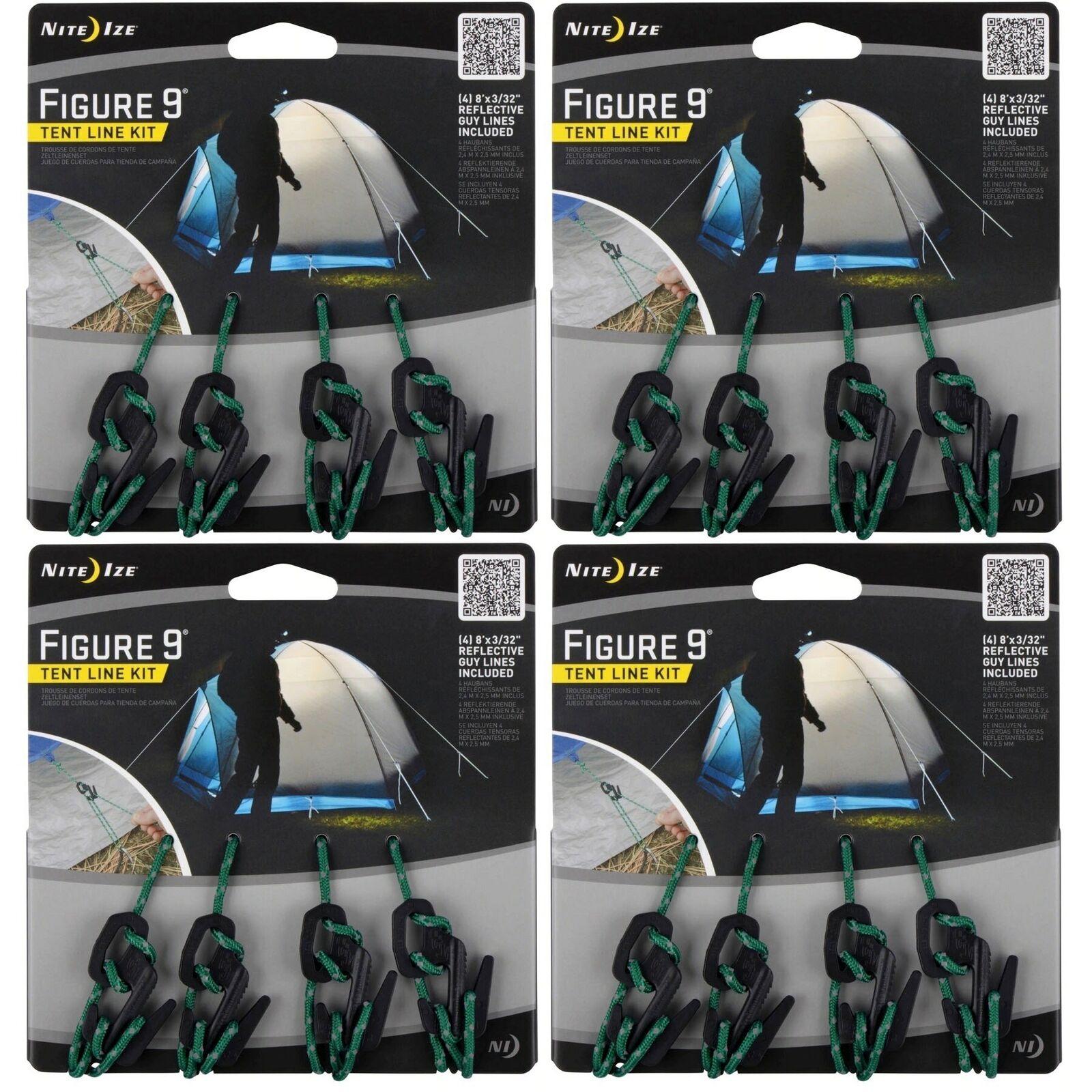 Nite Ize Figura 9 tienda línea Kit 4-Piece  Reflectante Línea De Cuerda Con Tensores Paquete de 4  tienda de venta