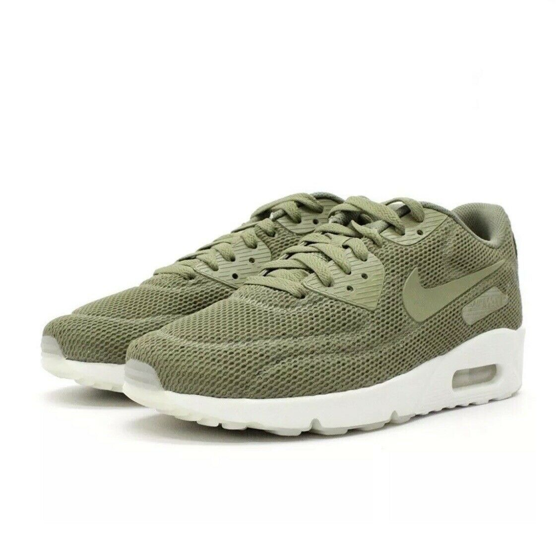 75d8574170 Nike Men's Air Max 90 Ultra 2.0 Breathe Size 9 Green White Mesh 898010-200