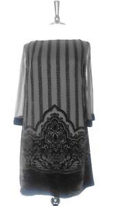 Monsoon-Size-M-Dress-Silk-Velvet-Devore-Art-Deco-Design