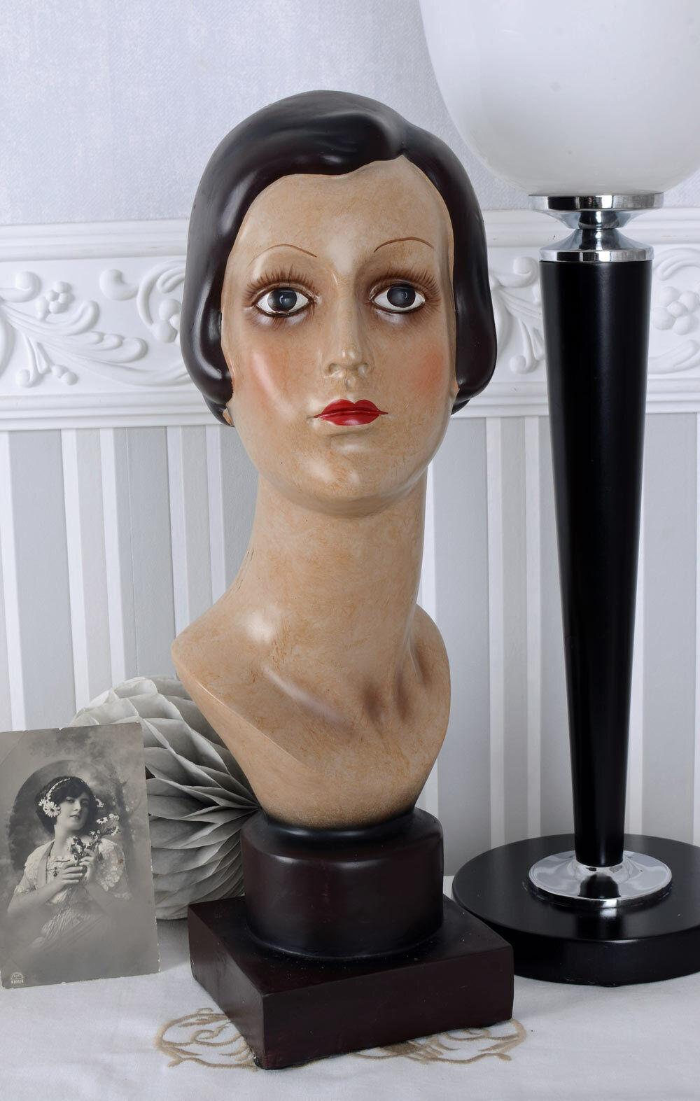 Busto De Mujer Art Deco Vintage Hembra escultura nostálgico Decoración Figura Nueva