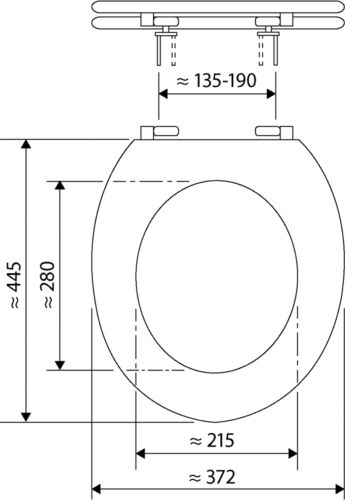 nussbaum WC-Sitz Klobrille Deckel Venezia mit Soft-Schließ-Komfort und Fast Fix