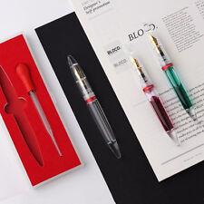 Moonman M2 Transparent Fountain Pen Extra Fine Nib W/box for Birthday Gift