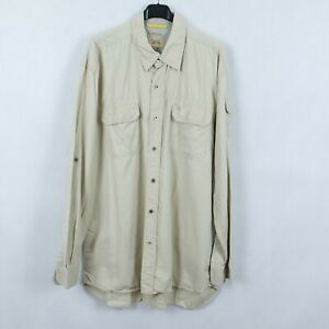 CAMEL-ACTIVE-Mens-Beige-Modern-Fit-Safari-Cotton-Collared-Shirt-SIZE-XL