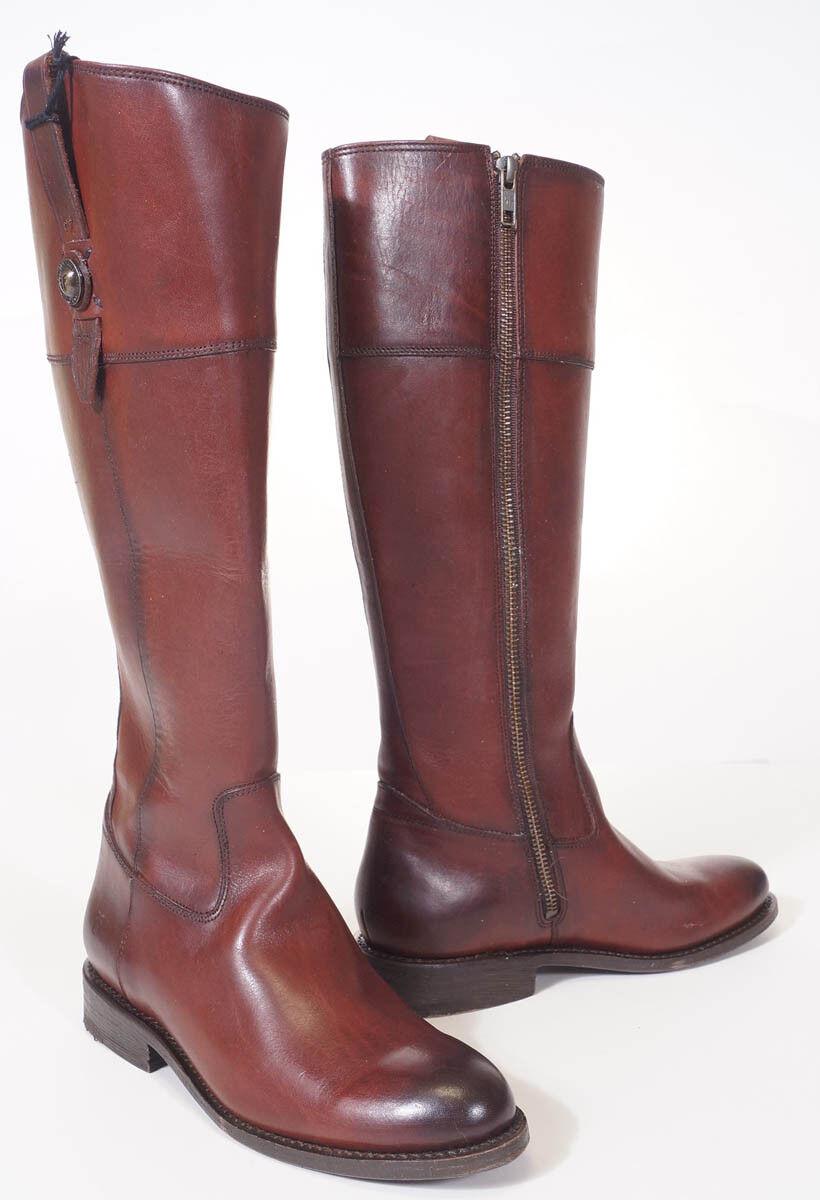 Frye 3476095 Botón de Cuero para Mujer Jayden Jayden Jayden rojowood Burdeos Alto botas De Montar 6.5  suministramos lo mejor