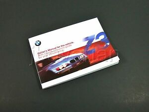genuine bmw owners manual z3 year 10 1999 06 2000 ebay rh ebay com BMW I8 2000 BMW Z3 Roadster