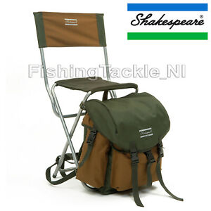 Shakespeare-Folding-Chair-with-Rucksack-Steel-Tube-Fishing-Seat-amp-Bag