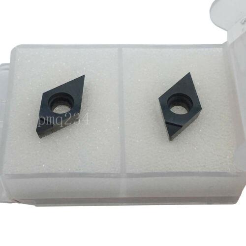 2pcs DCGW11T304 PCD30 Cnc Metal Lathe Tool Diamond inserts For Finishing Working