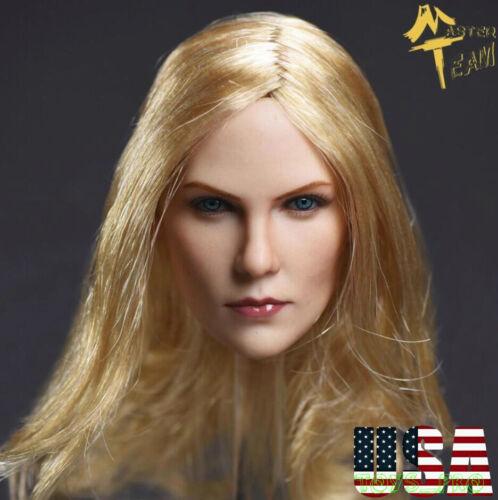 "1//6 American Female Pale Head Sculpt Blonde Hair For 12/"" PHICEN Figure ❶USA❶"