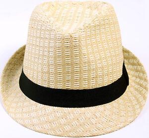 5d6f16943 Details about Summer Women Men Fedora Hats Travel Beach Sun Straw Hat  Trilby Hat Caps