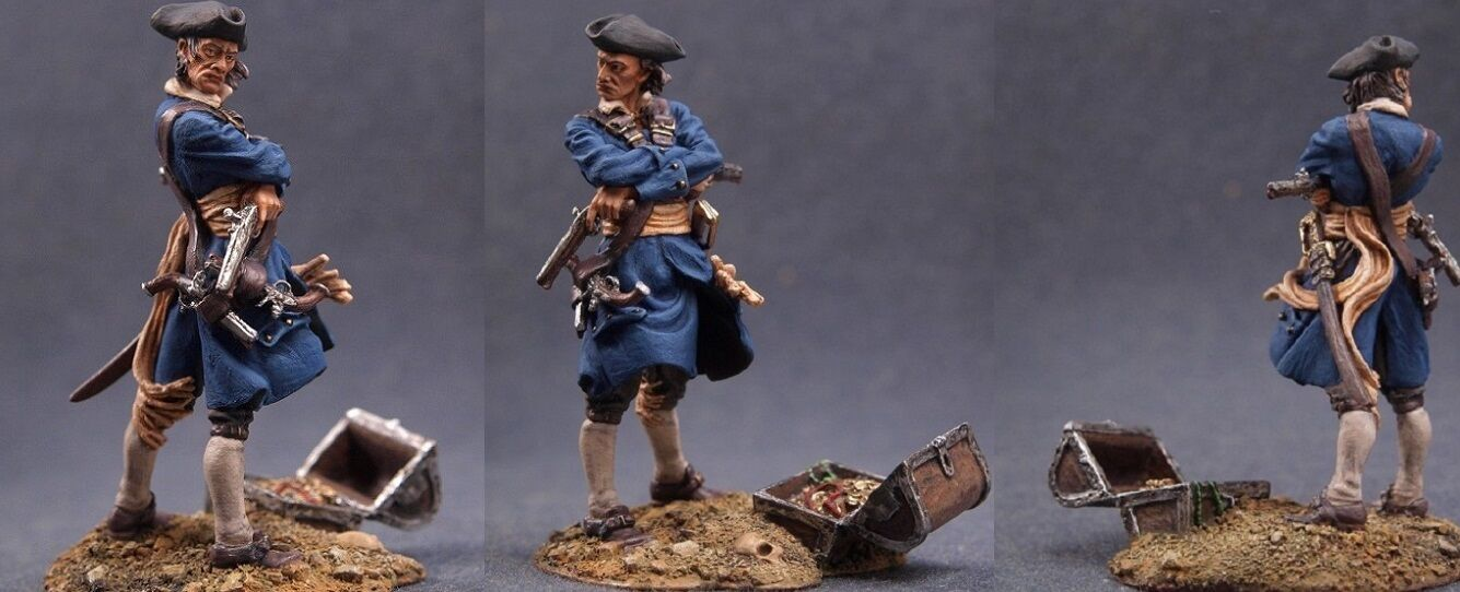 Tin toy soldiers ELITE painted 54 mm Pirate of Tortuga