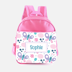 Personalised Cartoon Butterfly Cute Girls Kids Backpack Childrens School Bag