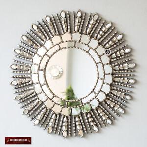 New Silver Sunburst Mirror Cuzco Style Silver Princess