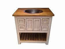"Custom Rustic White Wash Bathroom Vanity 30"" wide"