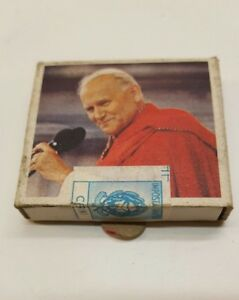 Italian-SEALED-Matchbook-all-Italian-Pope-John-Paul-II-1983-Excellent-Condition