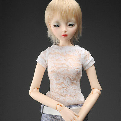 """Simple Round Neck T Shirt White Dollmore  1//3 BJD 22/"""" doll clothes  SD SIZE"""