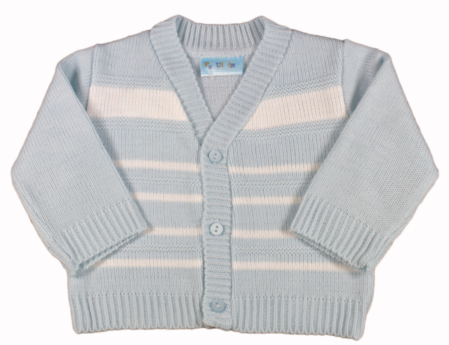 BabyPrem Baby Boys Cardigan Jacket Acrylic Blue Cable Knit 0-18 mths