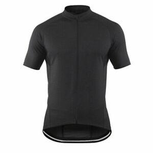 Black-Men-039-s-Cycling-Shirts-Full-Zip-Cycle-Bicycle-Bike-Jersey-Bib-MTB-Tops-S-5XL