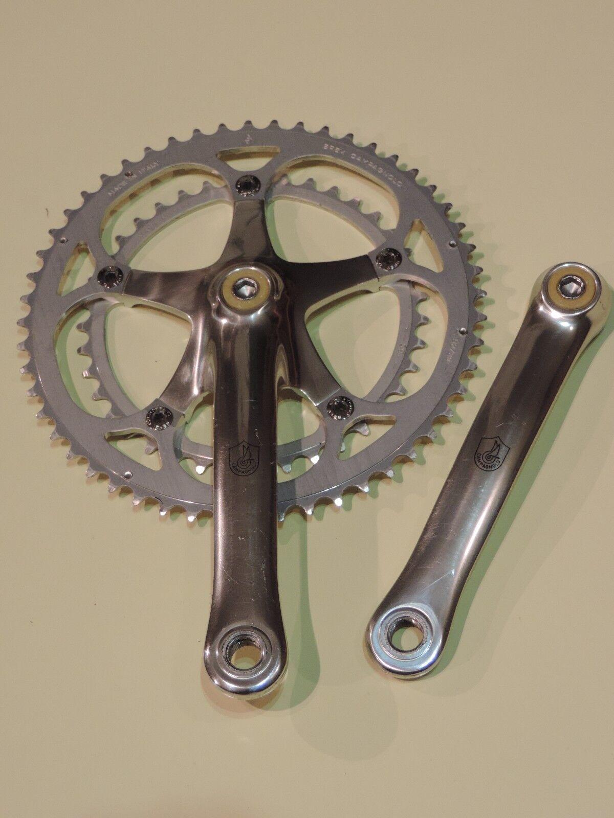 Vintage Campagnolo Chorus Bielas 172.5mm 53-39T Bicicleta de carreras de carretera cono Square