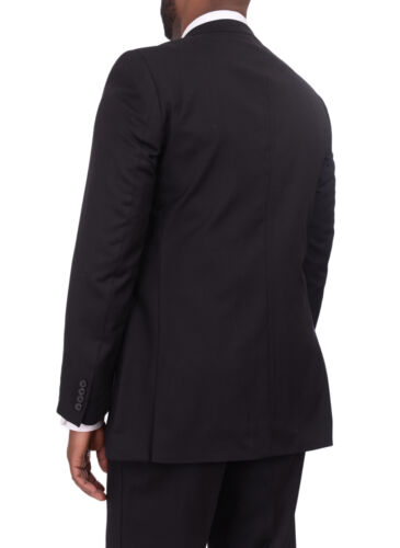 Giorgio Cosani Regular Fit Solid Two Button Wool Cashmere Blend Suit