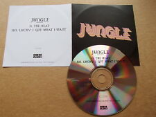 JUNGLE - THE HEAT / LUCKY I GOT WHAT I WANT - V.RARE PROMO CD CC061